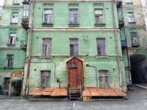 Old house, cat Royalty Free Stock Photos