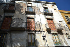 Old house in the center of Figueres Royalty Free Stock Photo