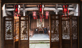 Old house of China. In ancient China, there were lots of old house, this is a typically old house Royalty Free Stock Image