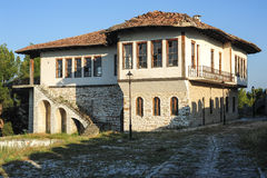Old house on the citadel of Kala at Berat Royalty Free Stock Photo