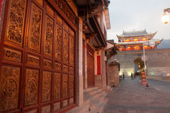 Old house and city gate in ancient city of Dali . Stock Photography