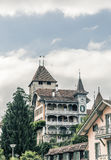 Old house, city of Spiez Stock Images