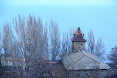 An old house close to tarasa shevchenka park in Odessa. Ukraine stock image