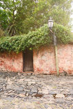 Old house in Colonia del Sacramento, Uruguay. Royalty Free Stock Image