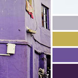 Old house. color palette swatches.,  color palette swatches. pastel hues. pastel hues Stock Photo