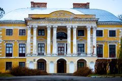 Old house with columns Royalty Free Stock Images