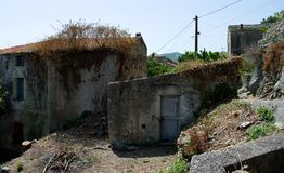 Old house, corsica. Old house in a small village, corsica Royalty Free Stock Photos