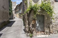 Free Old House Covered With Vine In The Medieval Town Of Riez In French Provence Stock Photo - 121101640