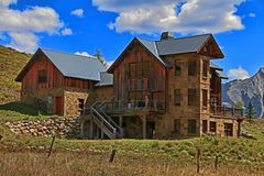 Old house in Crested Butte Colorado royalty free stock images
