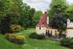 Old house in Czech Republic with a large garden around Royalty Free Stock Images