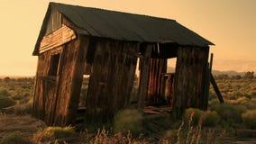 Old house desert timelapse stock footage