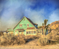 Old house in desert Royalty Free Stock Images