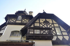 Old House details from Sinaia resort in Romania Royalty Free Stock Photos