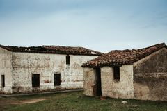 Old house deteriorated Royalty Free Stock Images