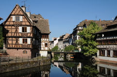 Old house in the district of La Petite France in Strasbourg Royalty Free Stock Photos
