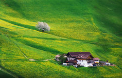 Old House in Dolomites Royalty Free Stock Image