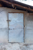 Old house door of poor people in thailand Royalty Free Stock Images