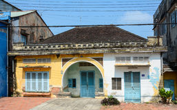 Old house at downtown in Can Tho, southern Vietnam Stock Photography