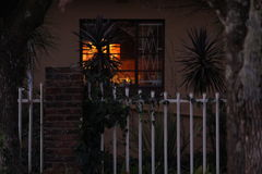 OLD HOUSE. At early at night Royalty Free Stock Photography