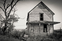 Old House in Eastern Oregon Stock Image