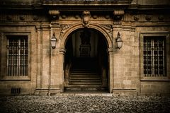 Old house entrance Stock Images