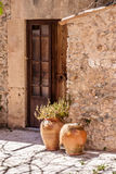 Old house entrance. Photograph of an old house entrance, Mallorca, Spain Stock Image