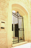 Old house entry. A gate to an old house in Mdina, Malta Royalty Free Stock Photos