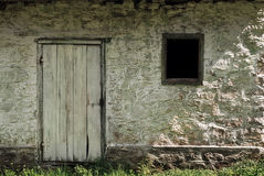 Old house exterior. Door and window Stock Images