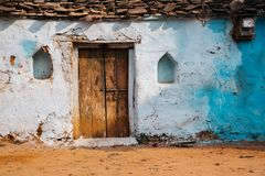 Old house exterior in India. Old traditional house exterior in India Stock Images