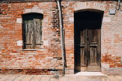 Old house exterior in Murano, Venice, Italy. Old house exterior in Murano island, Venice, Italy Stock Image