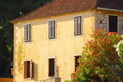 Old house. Exterior, Stari Grad town on Island Hvar in Croatia Royalty Free Stock Photography
