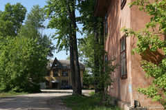 An old house. Old  house  exterior  stockholm  city  street  building Royalty Free Stock Image