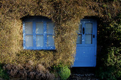 Old house exterior with topiary surround. Showing Royalty Free Stock Photography