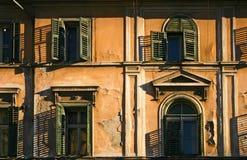Old house facade. With cracks royalty free stock photos