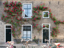 Old house facade in Gouda, Holland Royalty Free Stock Photography