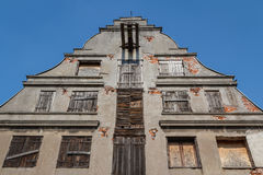 Old house facade in the historic centre of Wismar Royalty Free Stock Photo