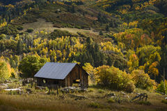 Old House in Fall Royalty Free Stock Photos