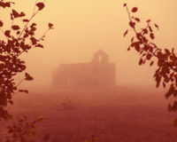 Old house in the fog Royalty Free Stock Photo