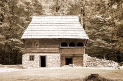 Old house beside forest Royalty Free Stock Photo
