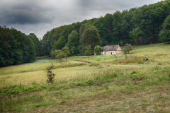 An old house in forest - Pánsky dom. An old house in forest - Pánsky dom - Little Carpathians in Slovakia stock images