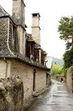 A old house in France. This house, in a small village in southwest france is a symbol of culture in the poor region Stock Photos