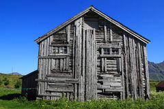 Old house of Fredvang Royalty Free Stock Photos