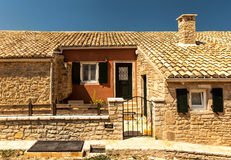 Old House From Perithia Old Village, Corfu Stock Images