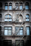 Old house front in Manhattan Stock Image