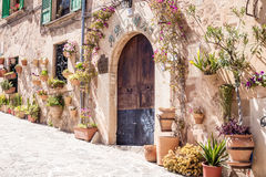 Old house gate. Photograph of an old house entrance, Mallorca, Spain Stock Photography