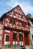 Old house in Germany. Red and white traditional german house in Limburg, Germany royalty free stock photography