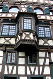 Old house in Germany. Facade of an old house in a town in Germany. Urban medieval architecture stock photography