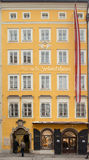 Old house where the W.A. Mozart was born Royalty Free Stock Photo