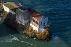 Old house at Golden Gate. Old cliff house at the Golden Gate Bridge Stock Images
