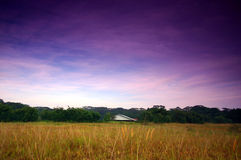 Old house on grassland Royalty Free Stock Photo